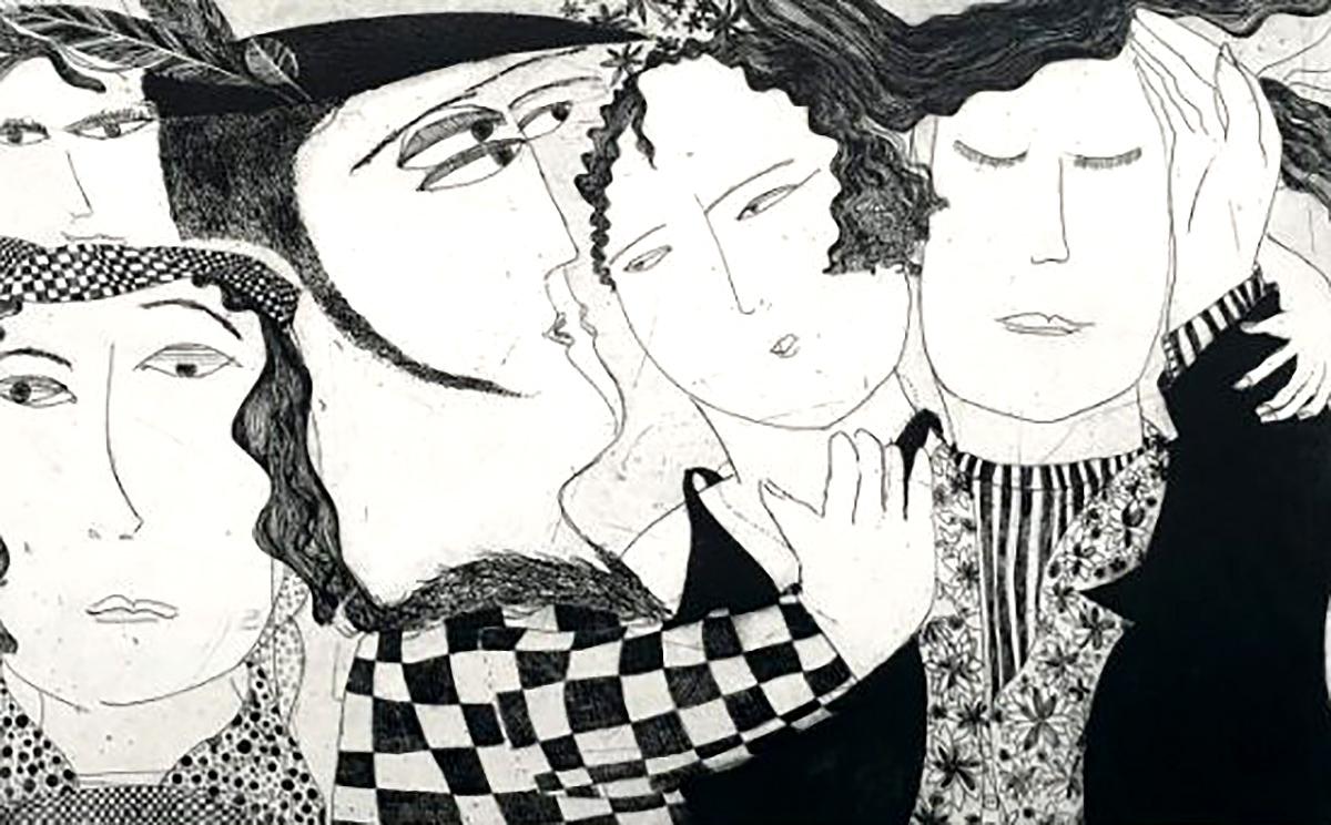 Kristiane Semar, 'Fine Society', etching and aquatint