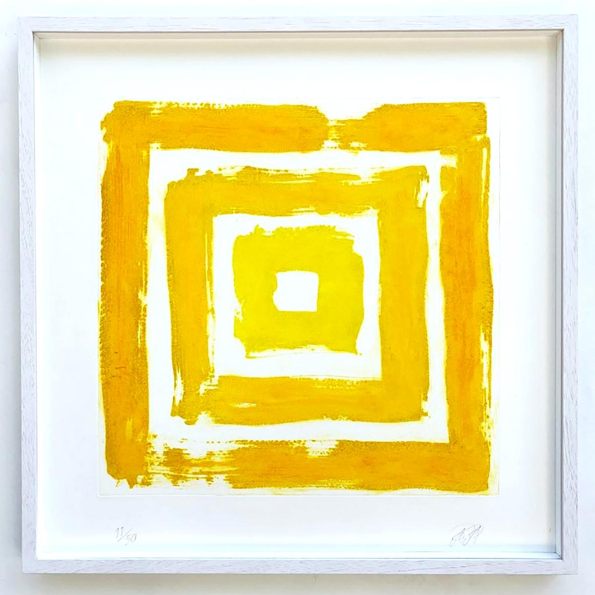 Alexander Arundell, 'Yellow Squares', carborundum