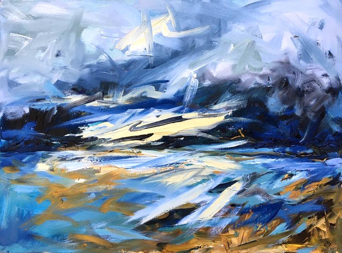 Clare Blois 'Autumn Sea, Isle of Mull', oil on canvas
