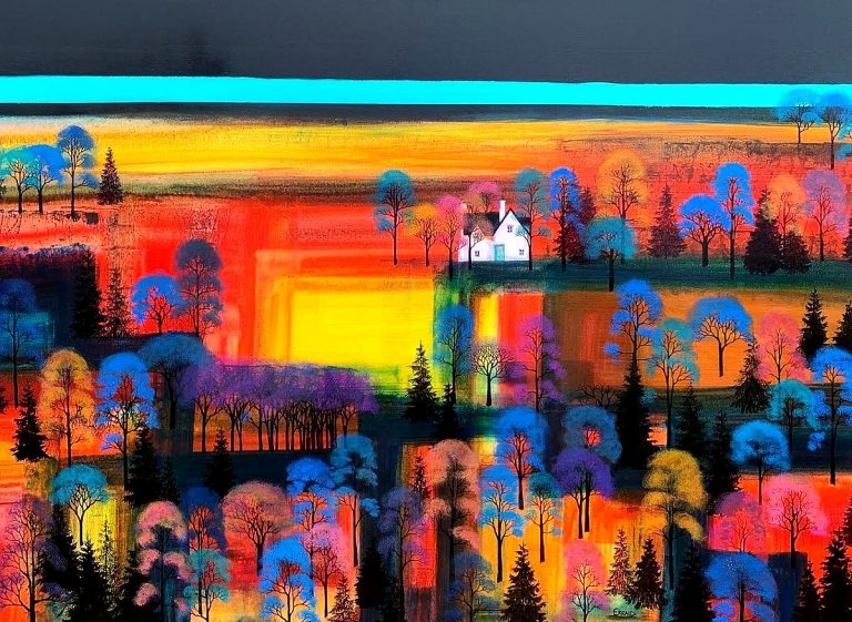 Erraid Gaskell, 'Midnight Autumn Fire'