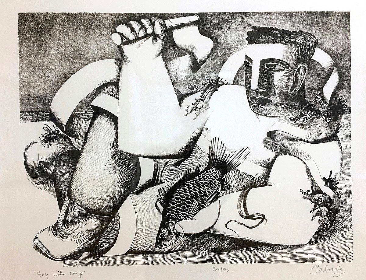John Byrne, 'Boy with Carp', lithograph.jpg