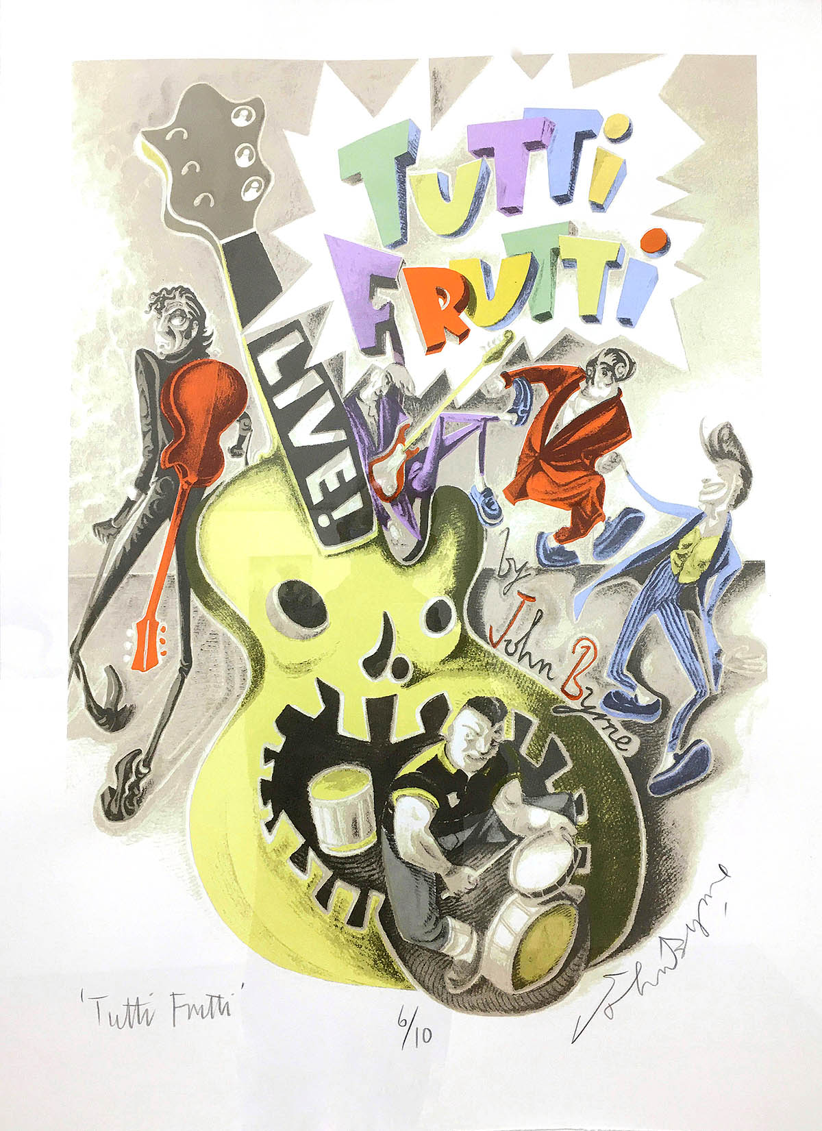 John Byrne, 'Tutti Frutti', screenprint with mixed media.jpg