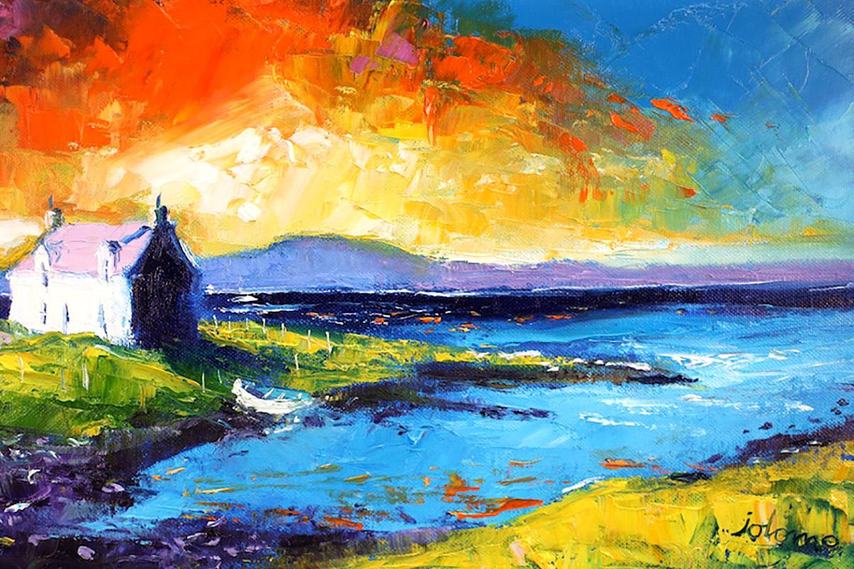 John Lowrie Morrison, 'Eveninglight Isle of Benbecula', oils on canvas