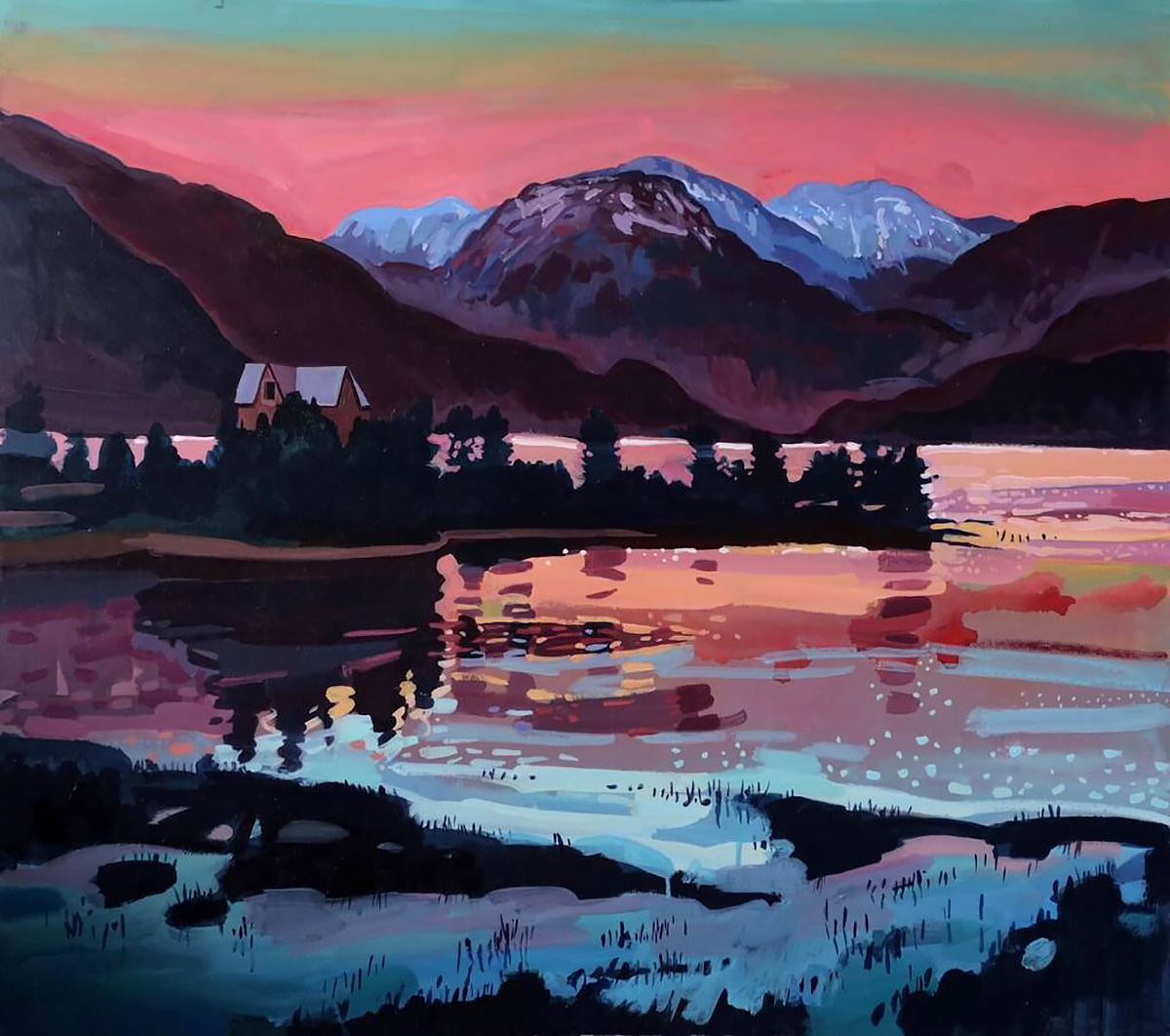 Lachlan Goudie, 'Arctic Palace', acrylic on board