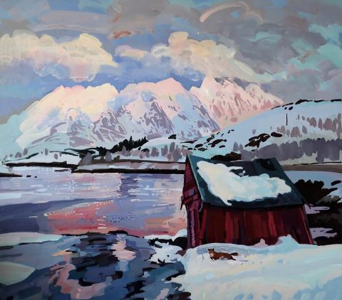 Lachlan Goudie, 'North Mountain', acrylic on board