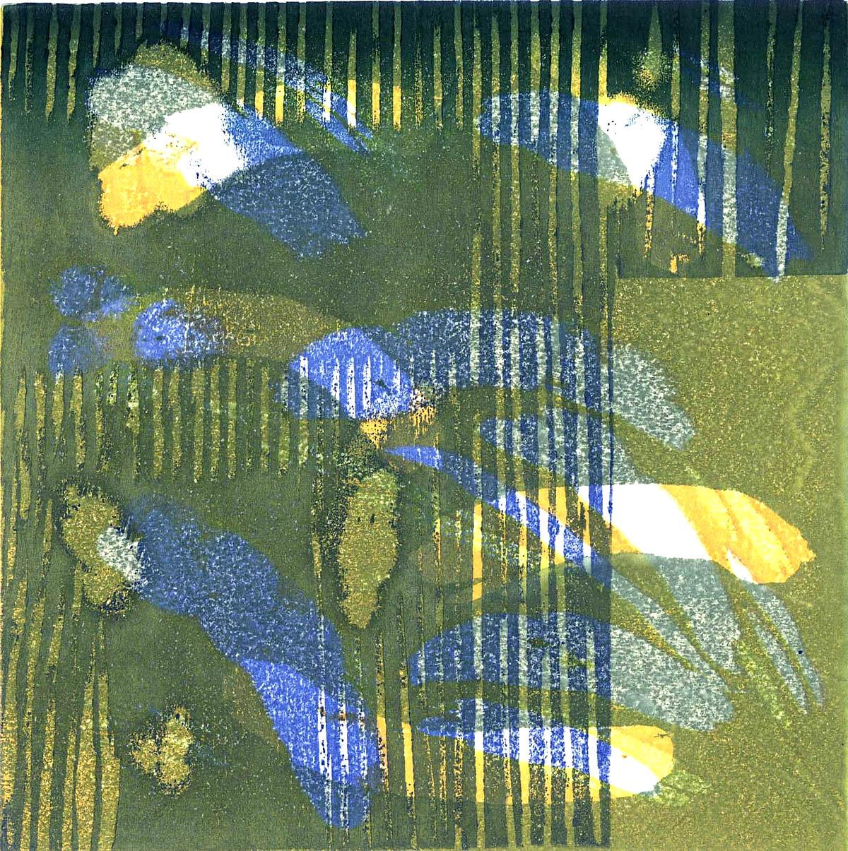 Paul Furneaux, 'Rain', Mokuhanga (Japanese wood cut)