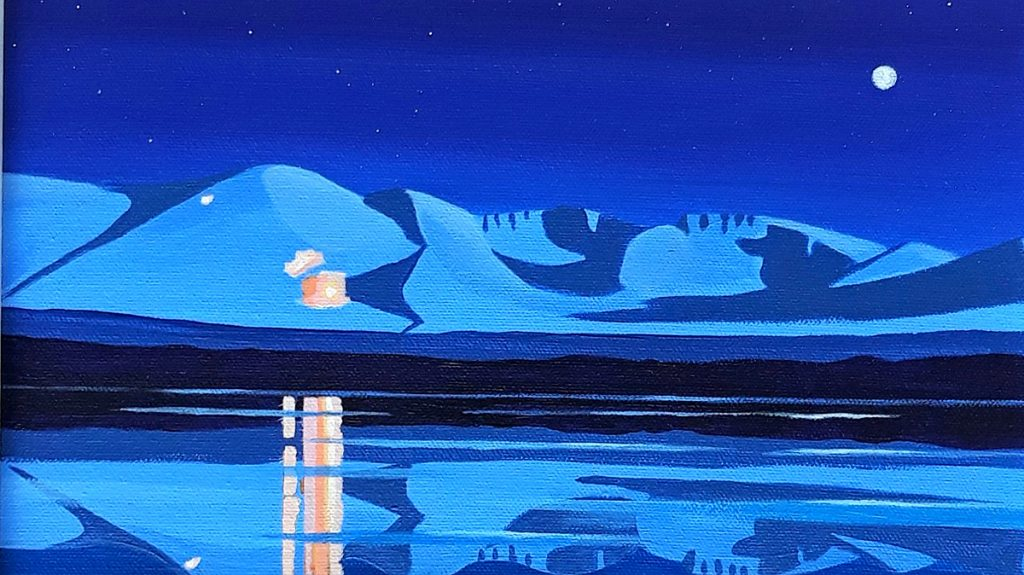 Rona Kant 'Nightshift Cairngorms', acrylic