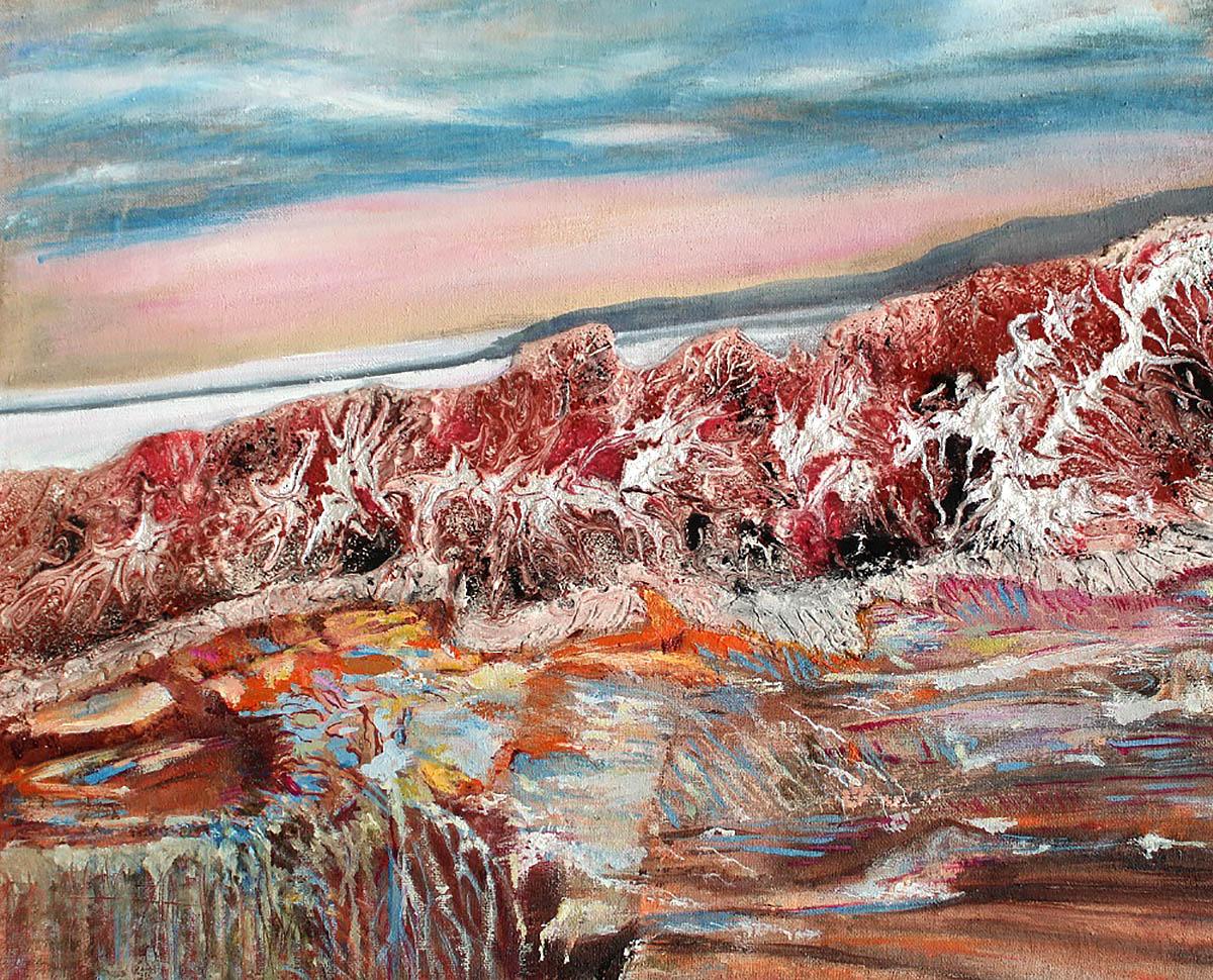 Vibha Panjak, 'Carefree Abandon', oil, plaster of Paris, acrylic ink on canvas