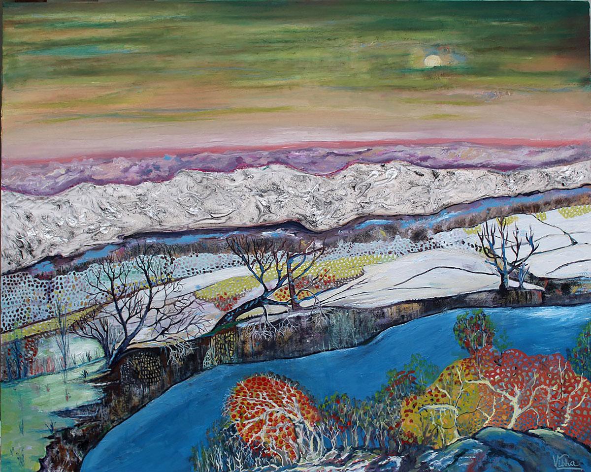 Vibha Pankaj, 'Missives from Nature', mixed media, oil on canvas