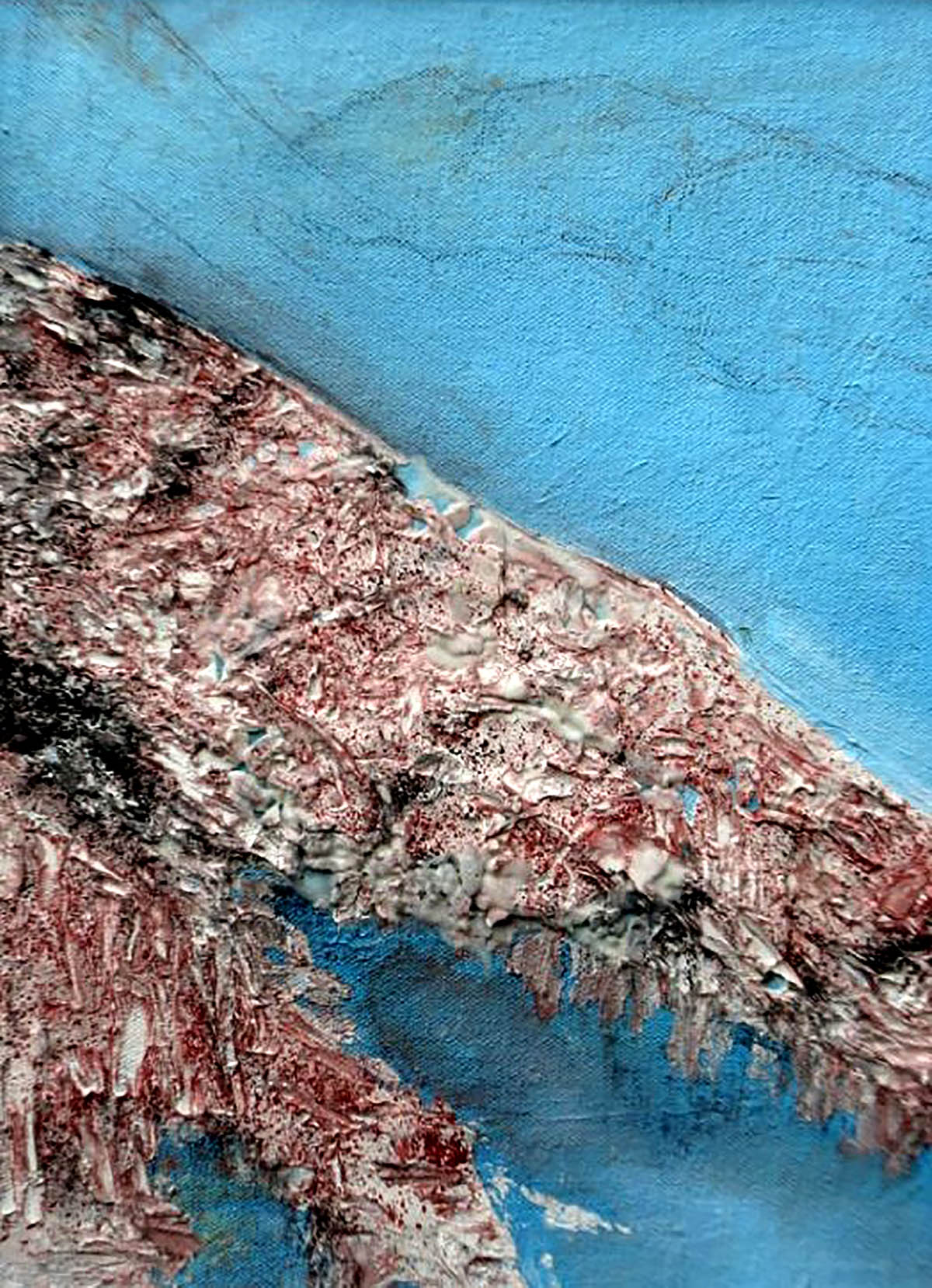 Vibha Pankaj, 'Shoreline, Land and Shifting Time', acrylic and plaster of Paris on canvas board