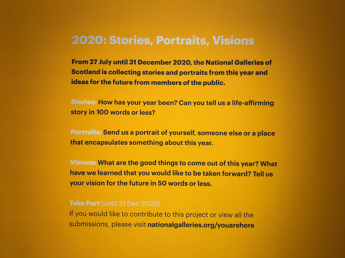 You Are Here 2020 Scottish National Portrait Gallery