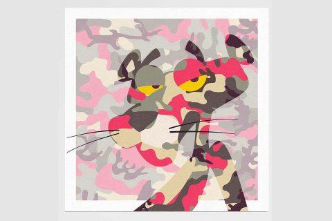 Tiny Riot, 'Pink Phink', limited-edition (55) print on velvet-matt textured310gsm paper