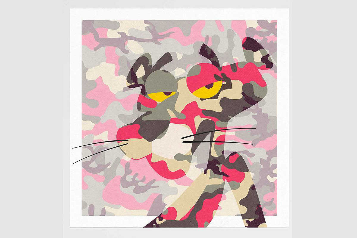 Tiny Riot, 'Pink Phink', limited-edition (55) print on velvet-matt textured 310gsm paper