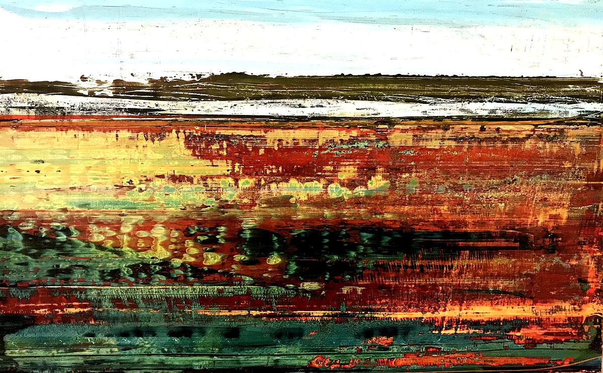 Alan Richmond, 'Autumn, Loch of Harray II', acrylic on board