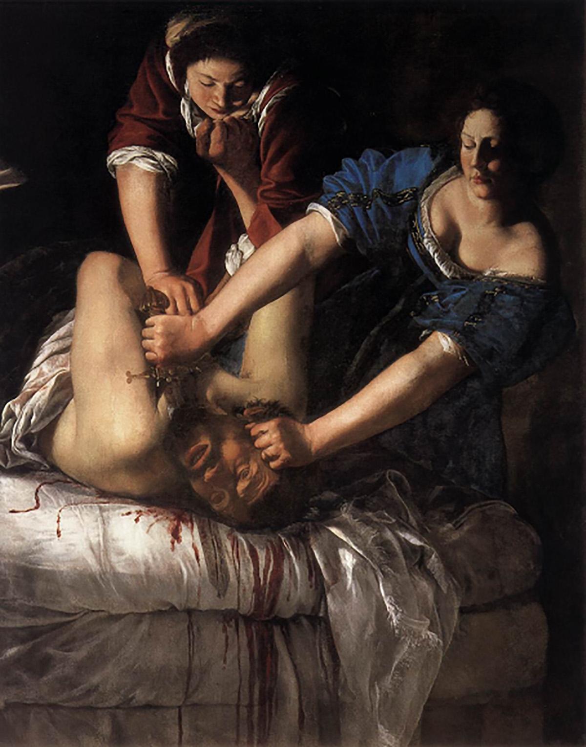 Artemisia Gentileschi, Judith beheading Holofernes (National Gallery)