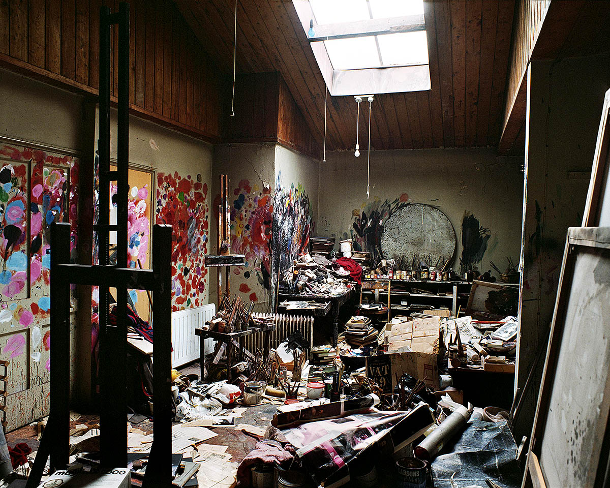 Francis Bacon's studio in the Dublin City Gallery The Hugh Lane, Photo: Perry Ogden Collection © The Estate of Francis Bacon. All rights reserved, DACS