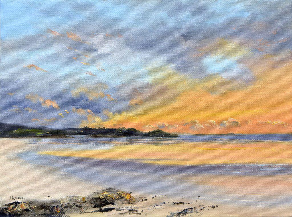 Angela Lawrence, 'Sunset Glow, Sandgreen', oil