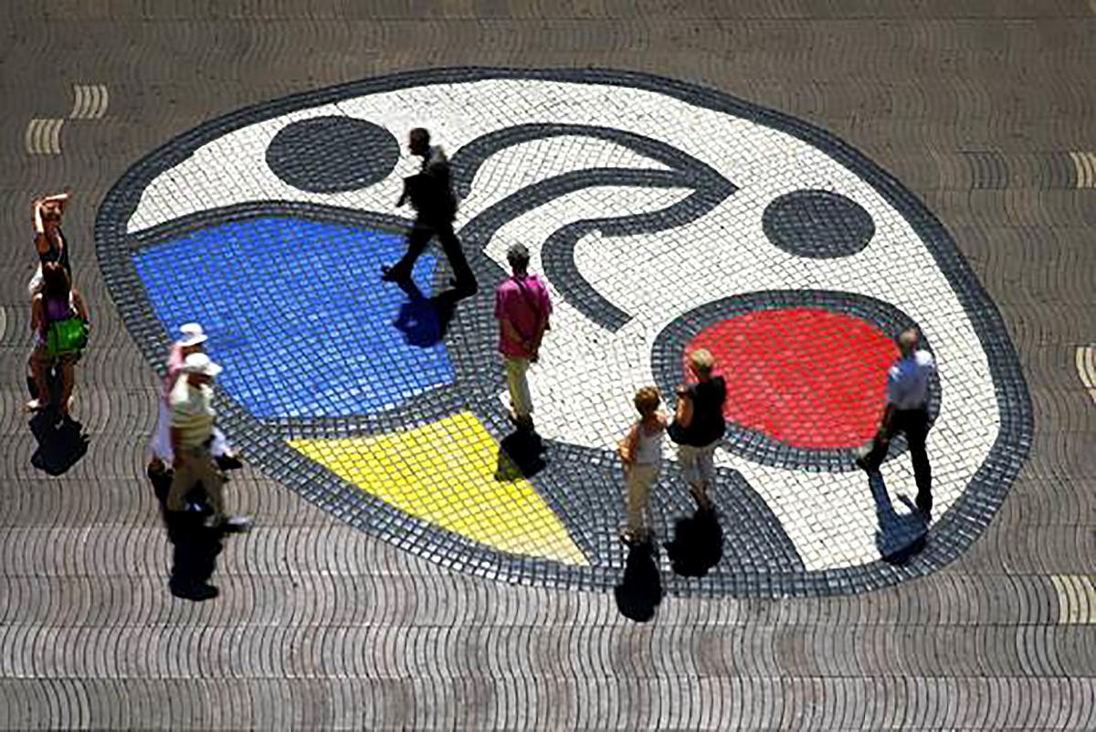 Joan Miró's Mosaic on La Rambla