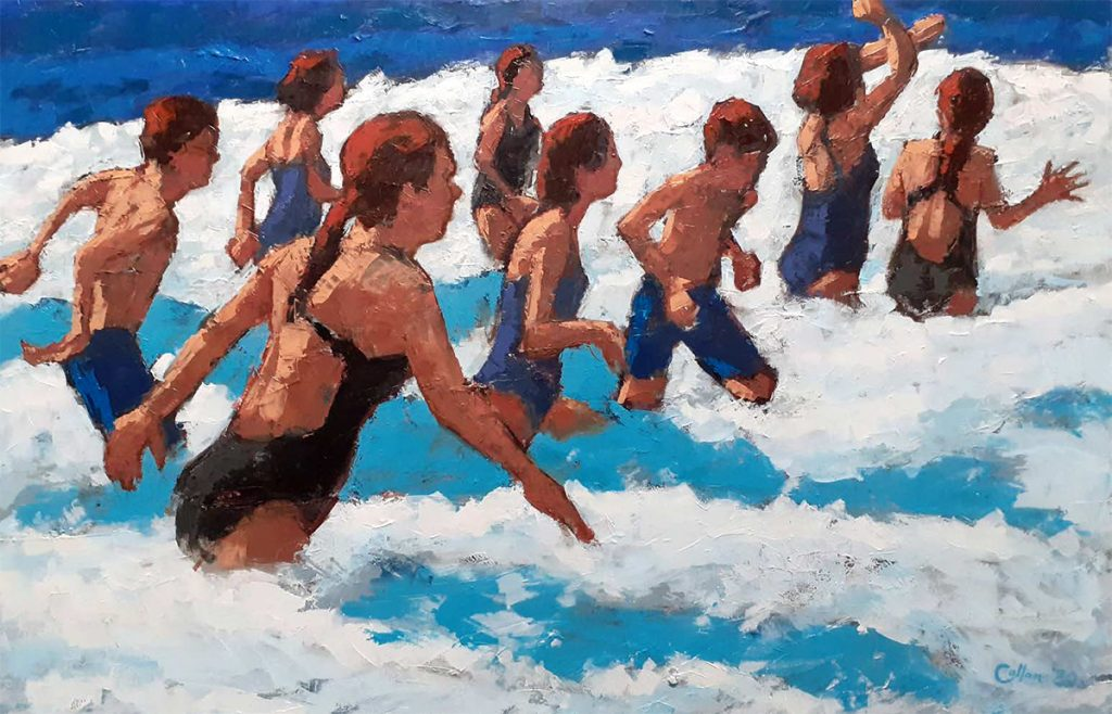 Damian Callan, 'New surf', oil on canvas