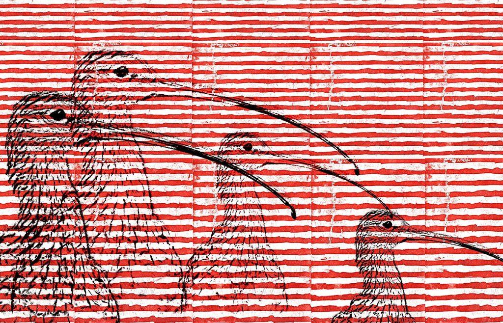 Georgia Allan, 'Curlew', Hahnemühle etching