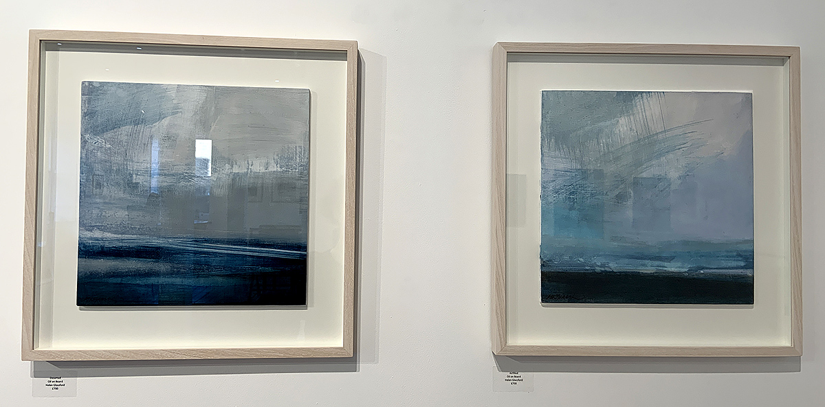 Helen Glassford, 'Deserted' and 'Airfilled', oil on board
