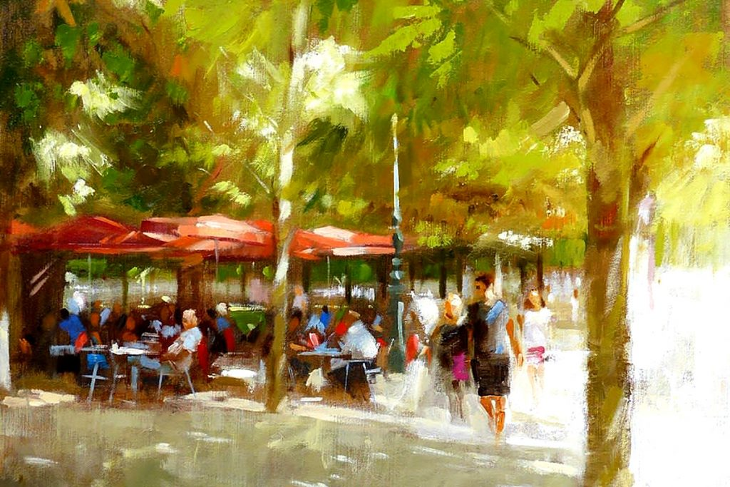 Jack Morrocco, 'Late Afternoon, Jardin des Tuileries', oil on canvas