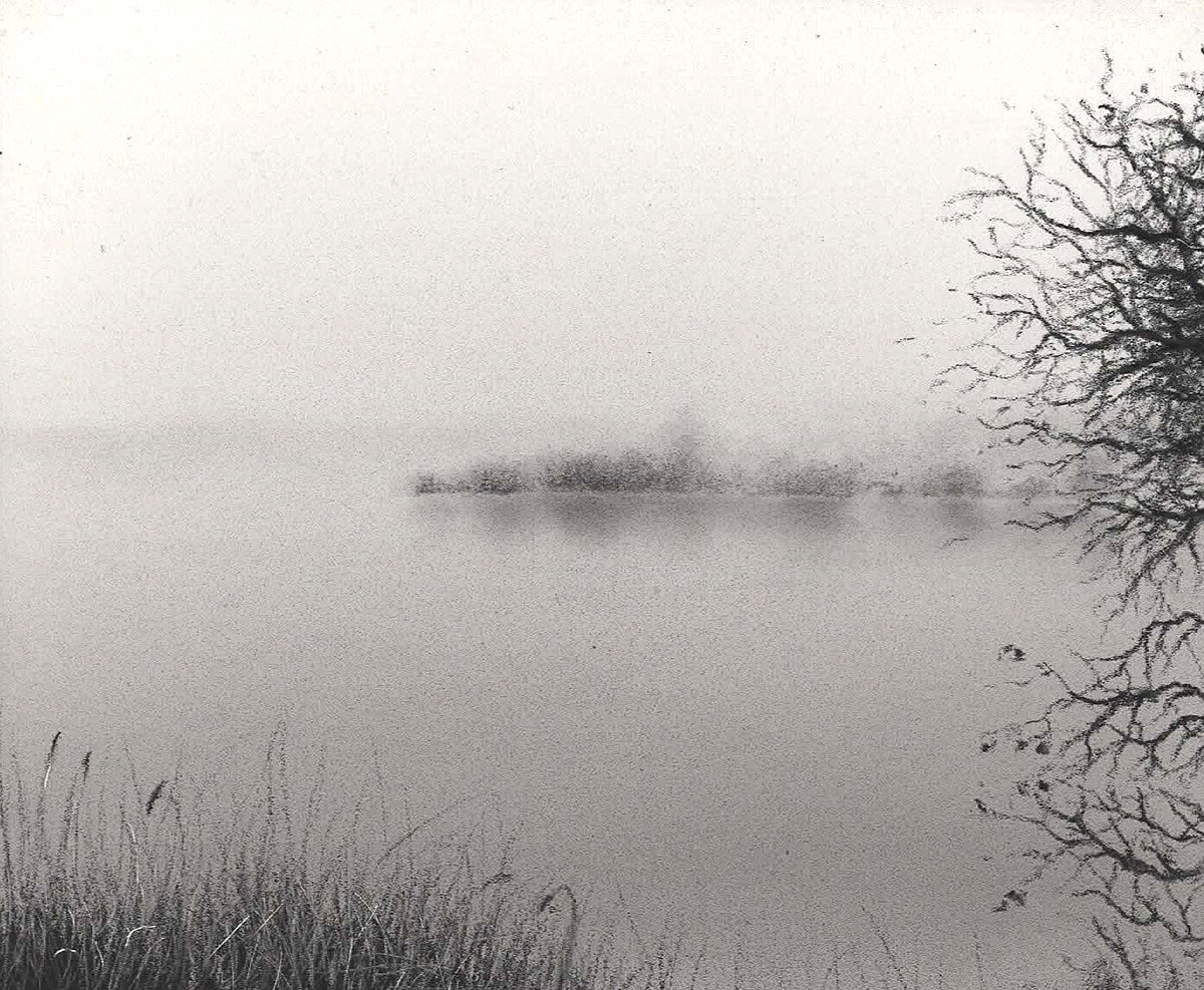 Jonathan Stockley, 'Hello Misty Morning', charcoal ampersand pastel-board