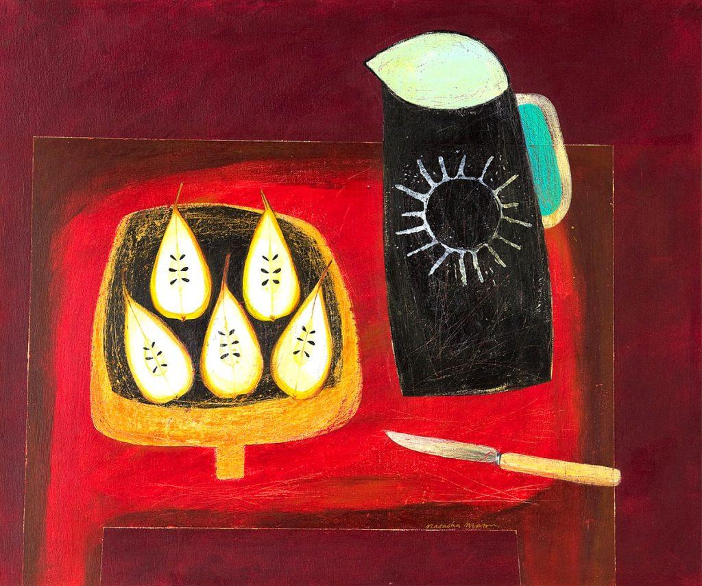 Natasha Morton, 'The Cut Pears', acrylic