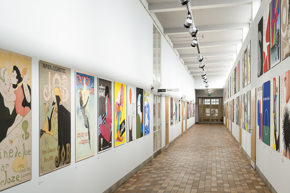 Part of the Poster Collection in the Museum für Gestaltung (Museum of Design)