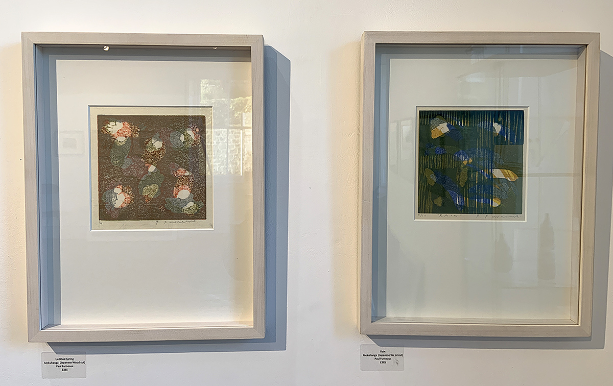 Paul Furneaux 'Untitled Spring' and 'Rain', Japanese wood cut