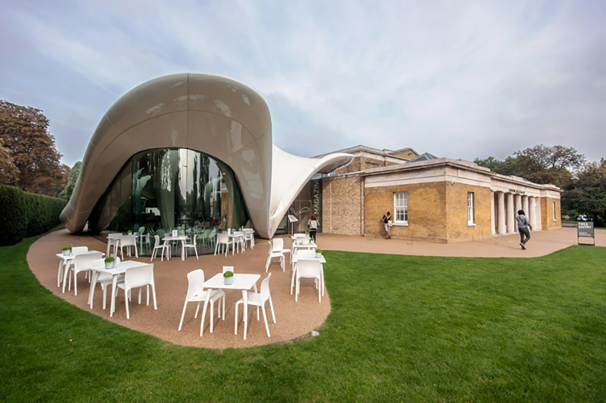 The Serpentine Sackler Gallery with its Zaha Hadid-designed extension