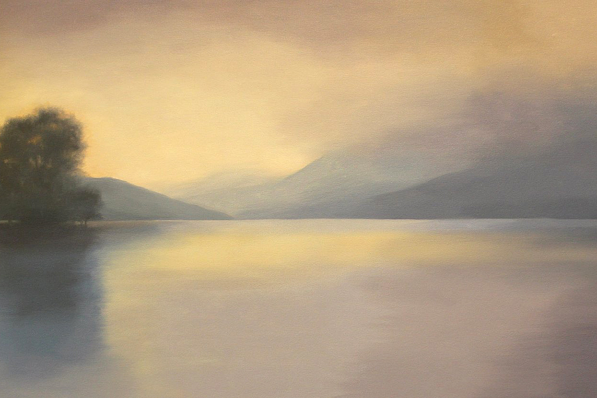 Yvonne Hair, 'Quiet Reflection, LochTay', oil on canvas