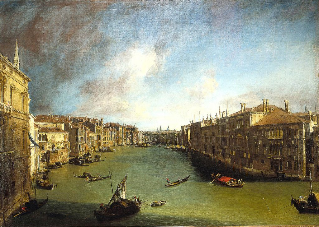 Canaletto, The Grand Canal from Ca' Balbi towards Rialto, 1720-23, (Ca' Rezzonico)