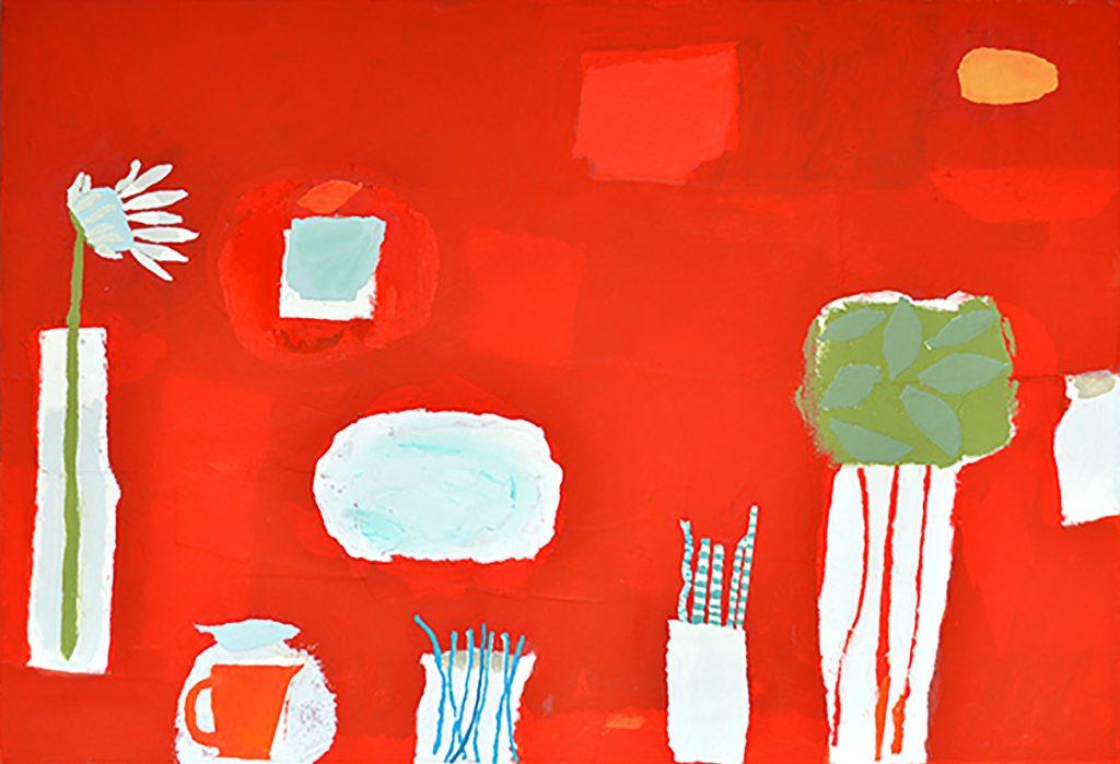 Christine McArthur, 'Red Tango for John', mixed media