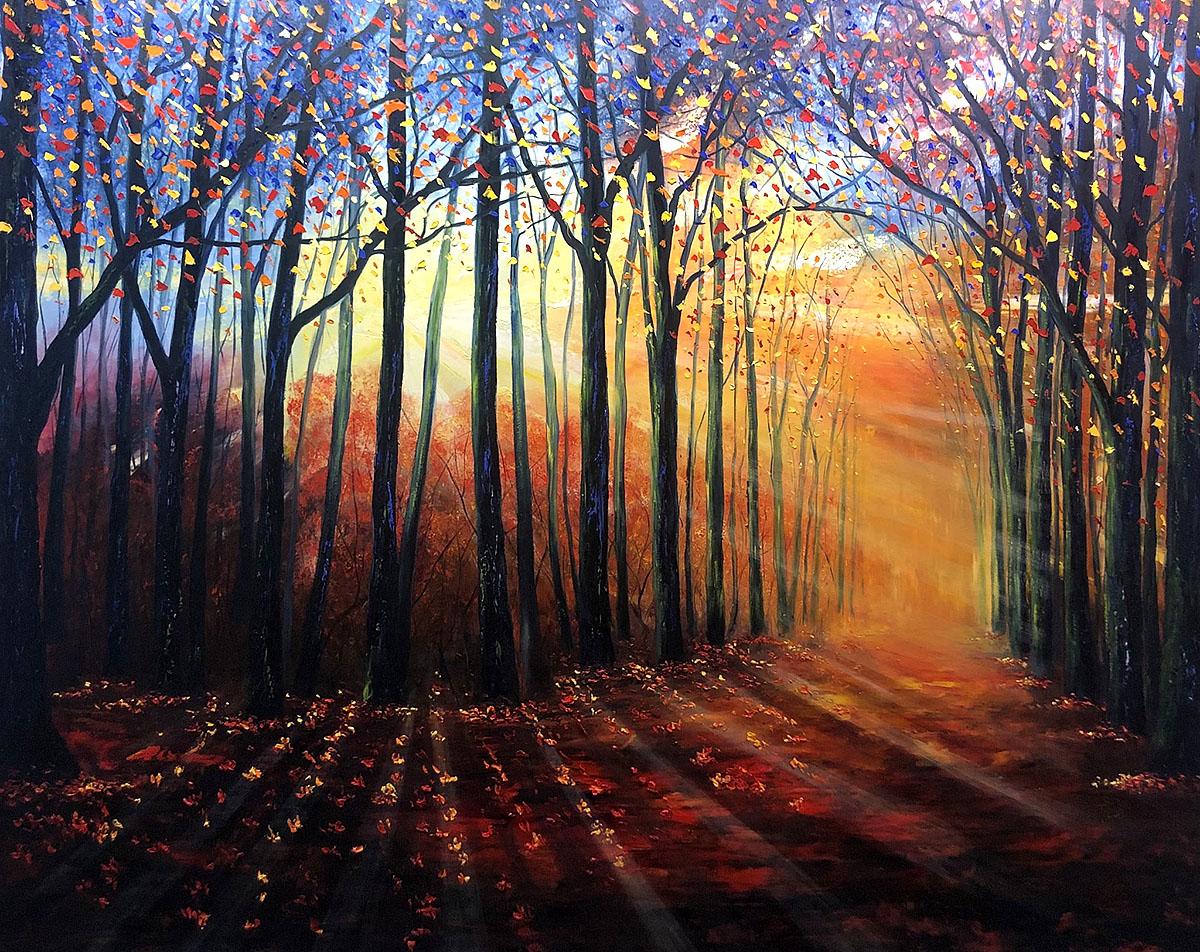 Elena Guillaumin, 'Autumn Joy', oil on canvas