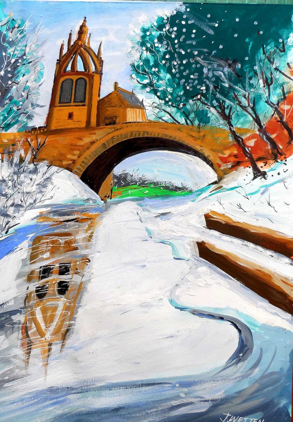 JohnWettenBrown, 'Winter Ice and Snow, River Kelvin'
