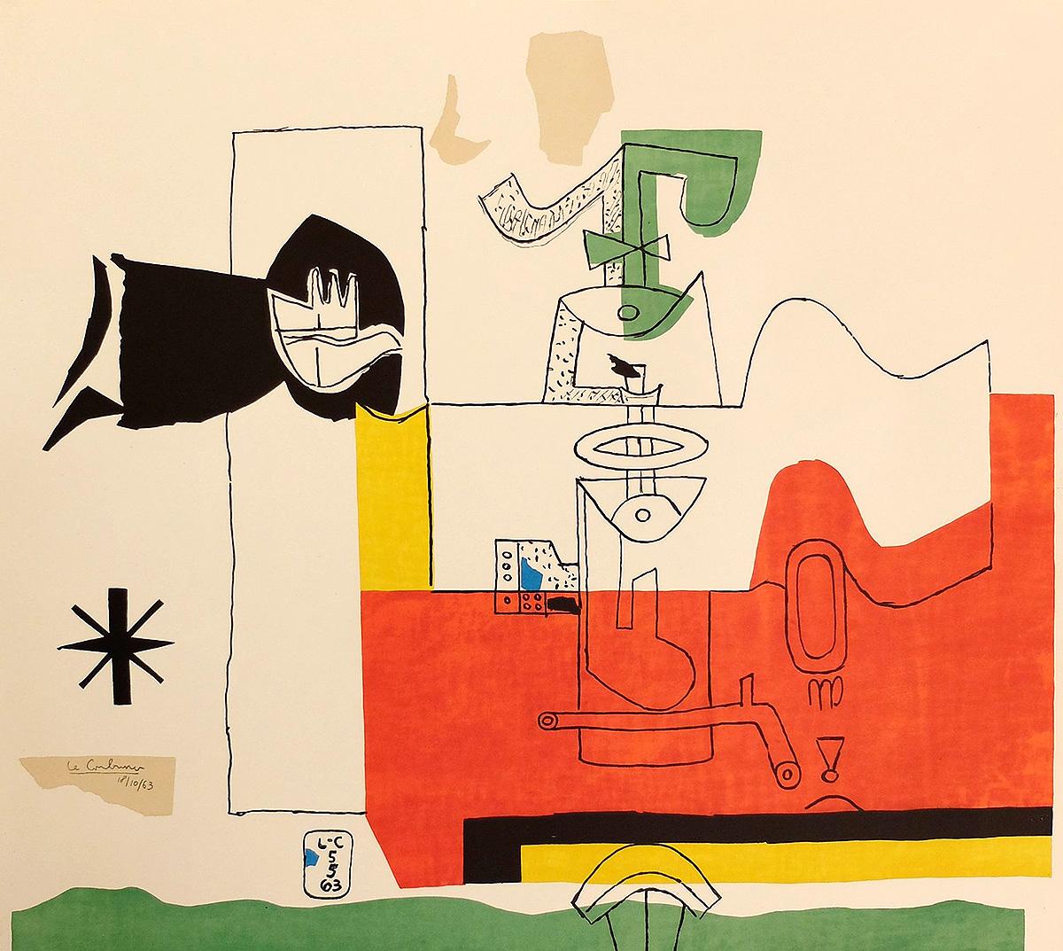 Le Corbusier, 'Totem', lithograph