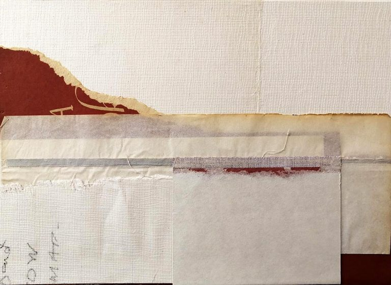 Rhona Fleming, 'Letters in a Landscape', collage