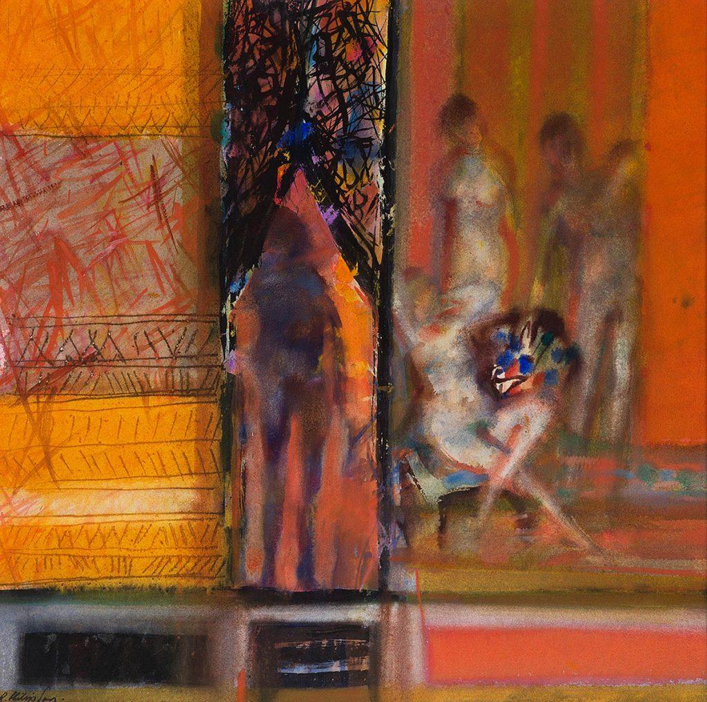 Robin Philipson RA PPRSA FRSE RSW, 'Female Nudes', watercolour