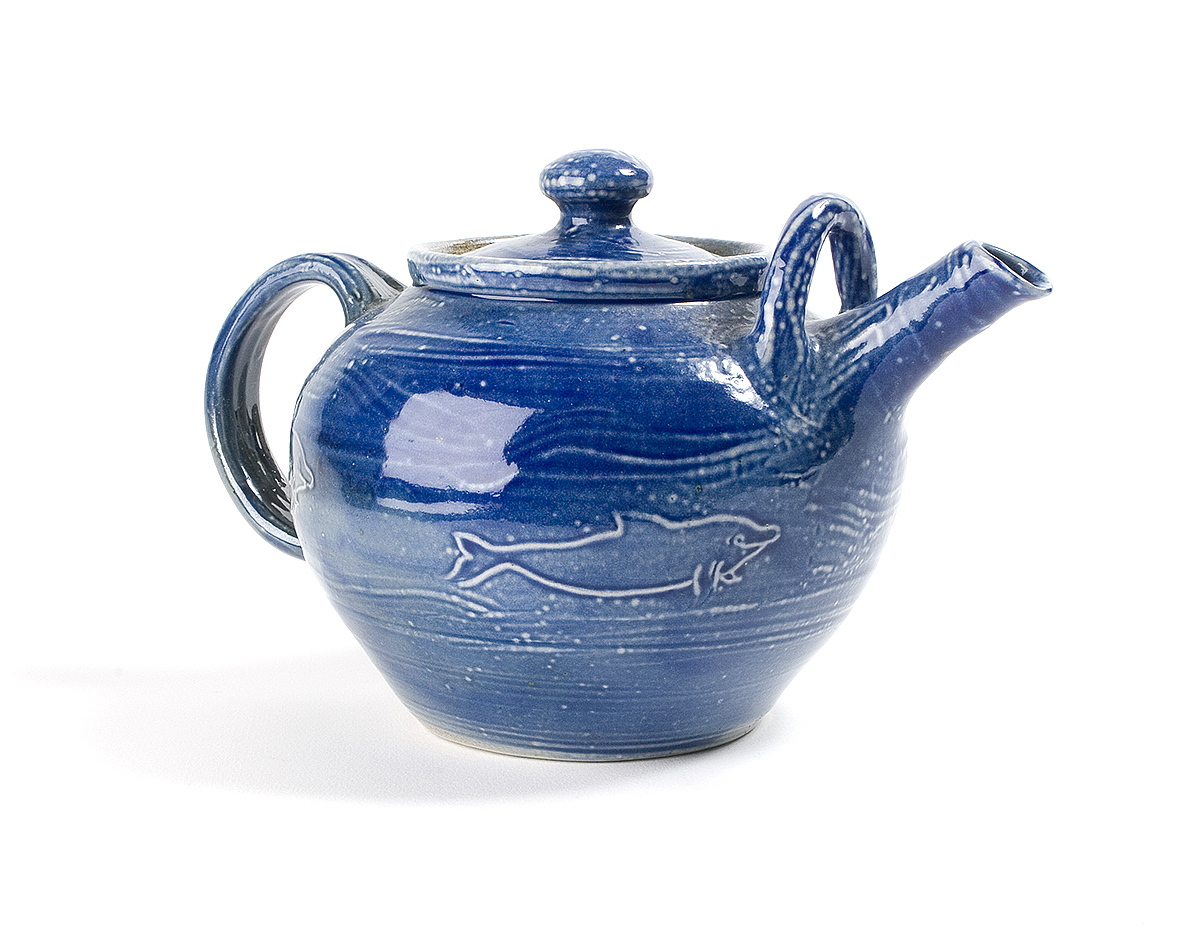 Sea Salt 2 pint Dolphin Teapot