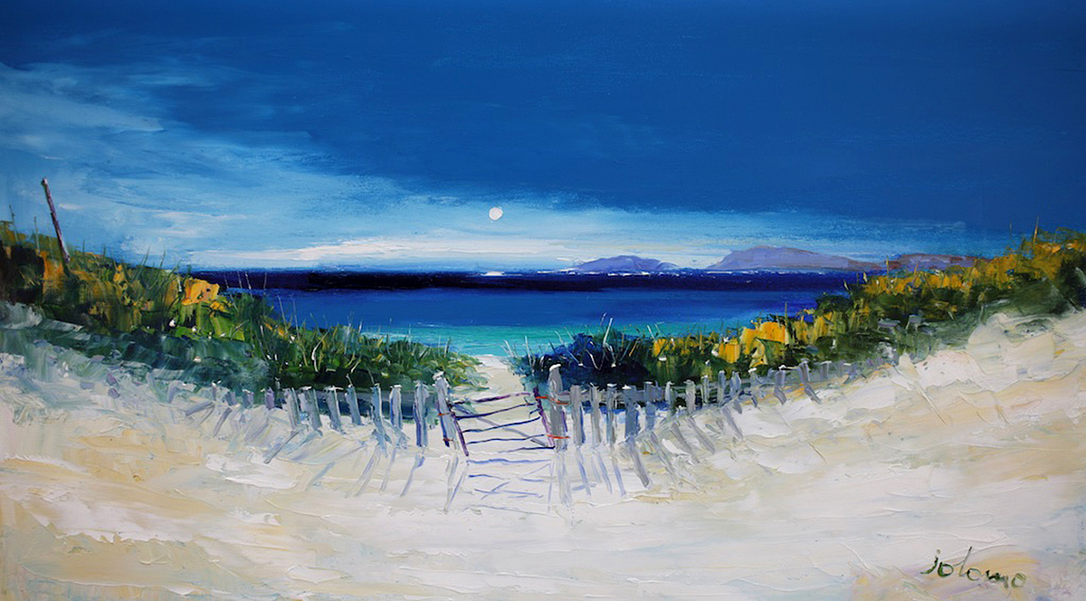 John Lowrie Morrison, 'The Gate And Path To Vatersay Beach', oil on canvas