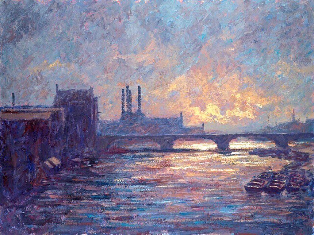 Alexander Millar, 'Battersea Sunset', oil