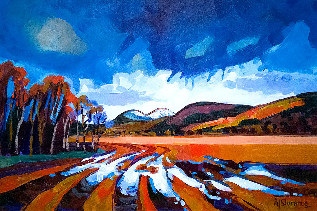 Audrey Slorance, 'Path to Loch Tay', acrylic