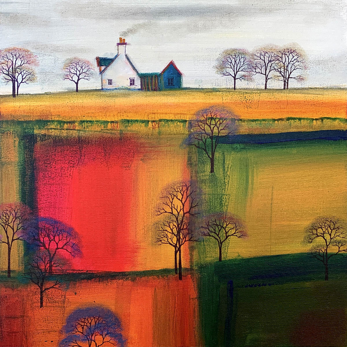 Erraid Gaskell, 'A Mild Spring Bloom', acrylic and mixed media on box canvas