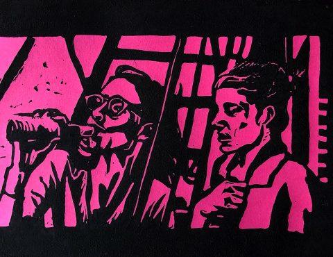 Mia Takemoto, 'Frances Ha', lino print on paper