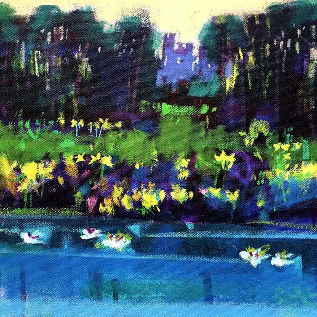 Francis Boag, 'First Daffodils, Ury' acrylic on canvas