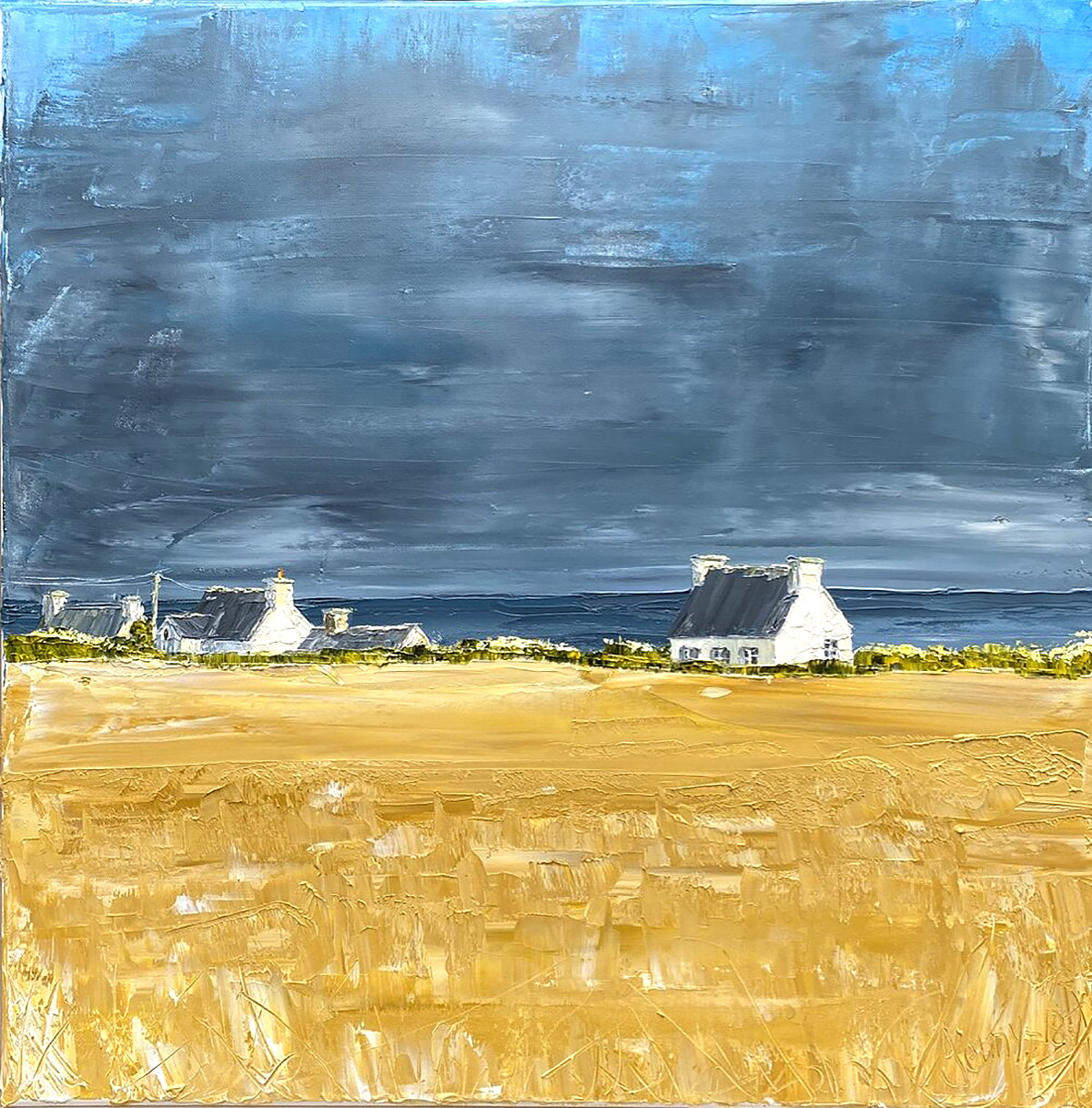 Jenny Wilson, 'By the Sea of Finnistere', oil on canvas