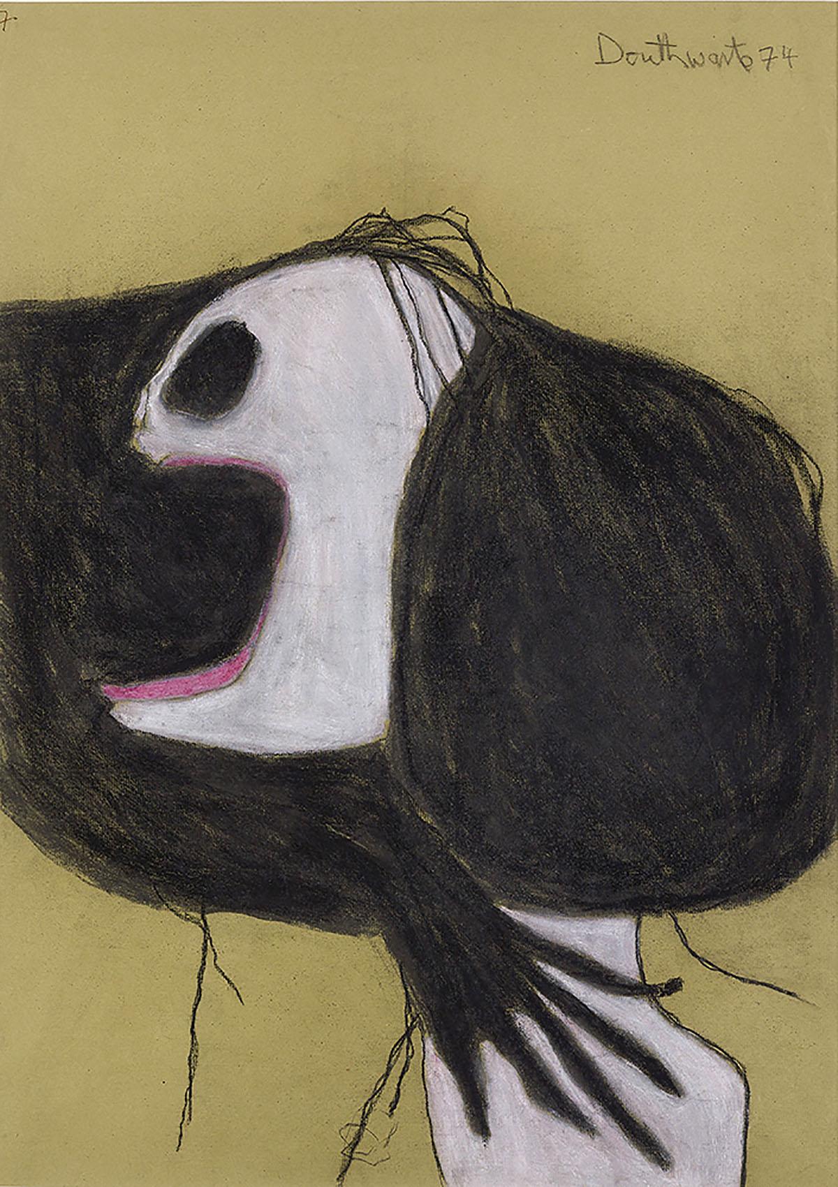 Pat Douthwaite, 'Goddess', oil, pastel, charcoal on paper