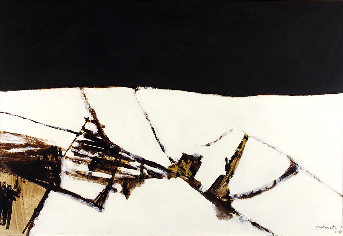 Pat Douthwaite, 'Suffolk Landscape, Winter', oil on board