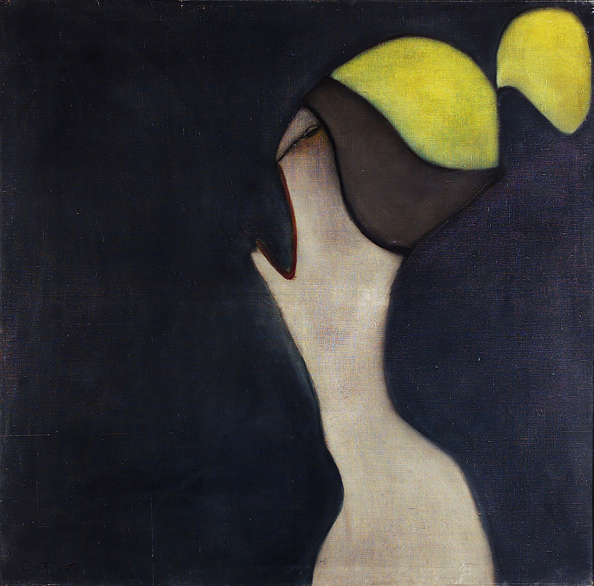 Pat Douthwaite, 'Yellow Hair', oil on canvas